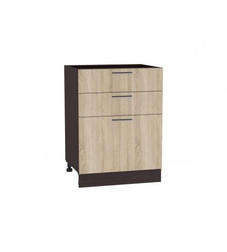 Шкаф нижний с 3-мя ящиками Брауни ШН 603
