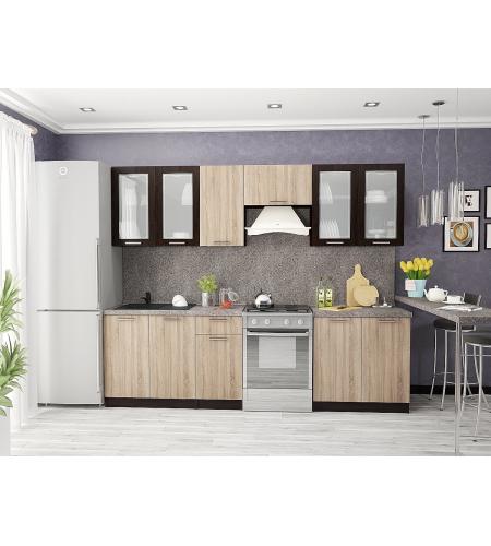 Кухня «Брауни-03»  Венге/Дуб сонома