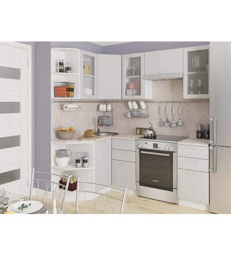Кухня «Валерия-04»  Серый металлик дождь светлый