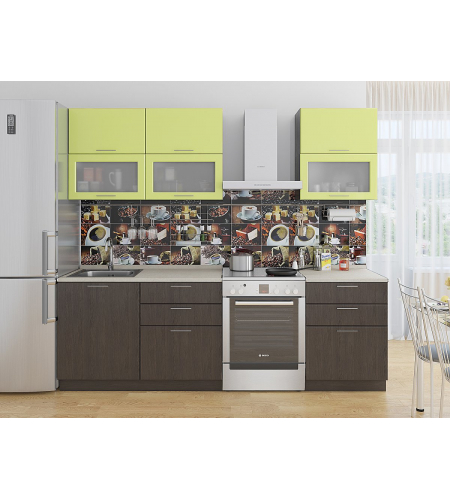 Кухня «Валерия-01»  Лайм глянец/Венге