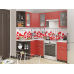 Кухня «Валерия-04»  Гранатовый металлик