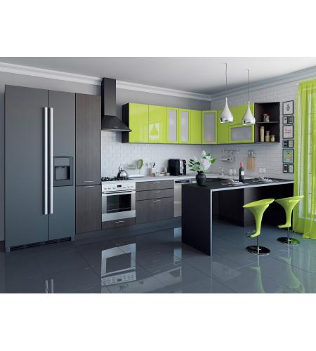 Кухня «Валерия-05»  Лайм глянец/Венге