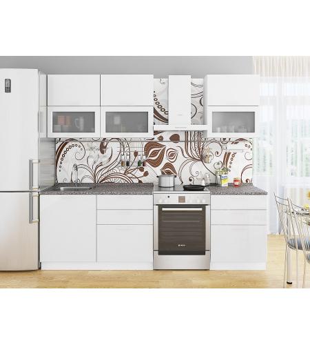 Кухня «Валерия-01»  Белый глянец