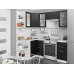 Кухня «Валерия-04»  Черный металлик