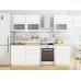 Кухня «Валерия-01»  Белый металлик