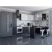 Кухня «Валерия-05»  Белый металлик/Черный металлик