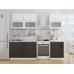 Кухня «Валерия-01»  Белый металлик/Черный металлик