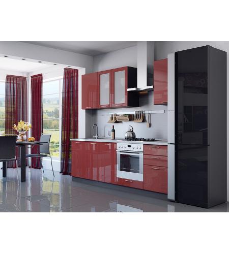 Кухня «Валерия-03»  Гранатовый металлик