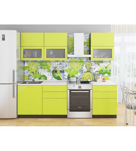 Кухня «Валерия-01»  Лайм глянец