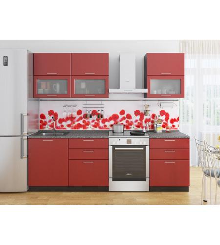 Кухня «Валерия-01»  Гранатовый металлик