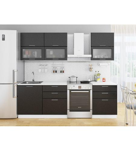 Кухня «Валерия-01»  Черный металлик