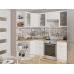 Кухня «Валерия-04»  Белый металлик