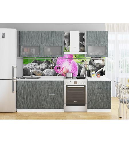 Кухня «Валерия-01»  Черный металлик дождь