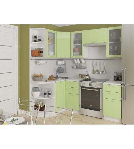 Кухня «Валерия-04»  Салатовый глянец