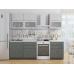 Кухня «Валерия-01»  Серый металлик дождь светлый/Черный металлик дождь