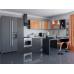 Кухня «Валерия-05»  Оранжевый глянец/Венге
