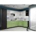 Кухня «Вега-02»  Белый металлик/Салатовый металлик