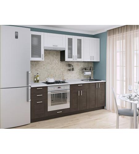 Кухня «Лофт-01»  Snow Veralinga/Wenge Veralinga