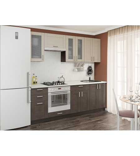 Кухня «Лофт-01»  Cappuccino Veralinga/Wenge Veralinga