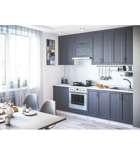 Кухня «Сканди-03»  Graphite Softwood