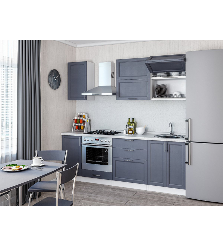 Кухня «Сканди-01»  Graphite Softwood