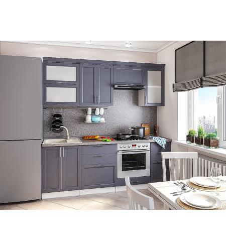 Кухня «Сканди-02»  Graphite Softwood