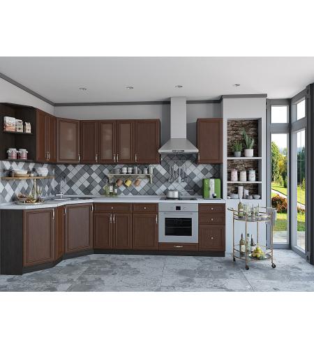 Кухня «Шале-03»  Brown Oak