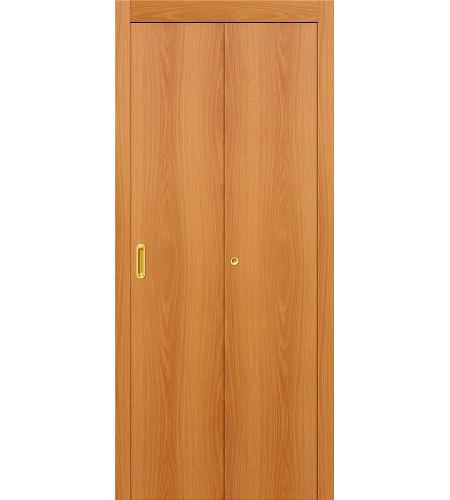 Дверь складная межкомнатная «Гост» МиланОрех глухая