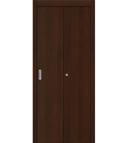 Дверь складная межкомнатная «Гост» Венге глухая
