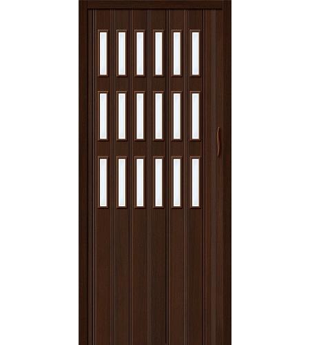 Дверь складная межкомнатная «Дилсон-018» Венге