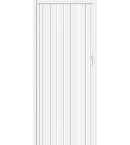 Дверь складная межкомнатная «Дилсон-008» Белый глянец