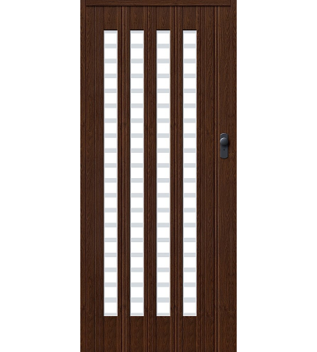 Дверь складная межкомнатная «Дилсон-011» Темный дуб