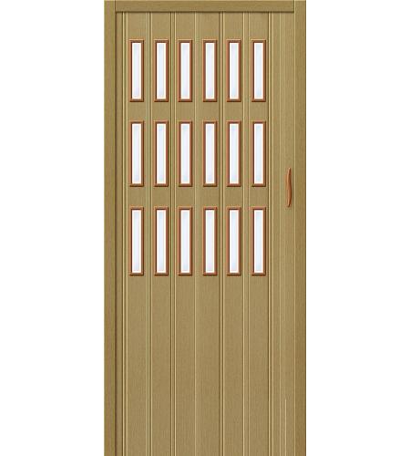 Дверь складная межкомнатная «Дилсон-018» Светлый Дуб