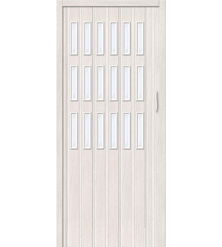 Дверь складная межкомнатная «Дилсон-018» Белый Дуб