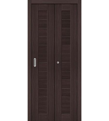 Дверь складная межкомнатная «Порта-21» Wenge Veralinga