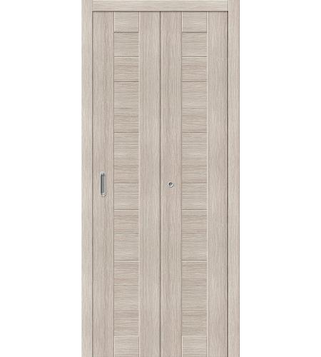 Дверь складная межкомнатная «Порта-21» Cappuccino Veralinga