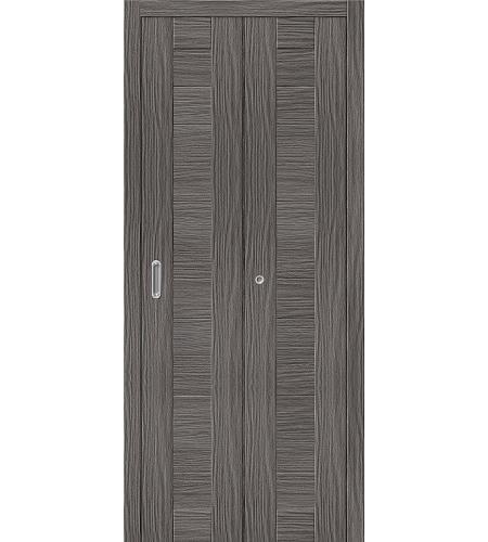 Дверь складная межкомнатная «Порта-21» Grey Veralinga