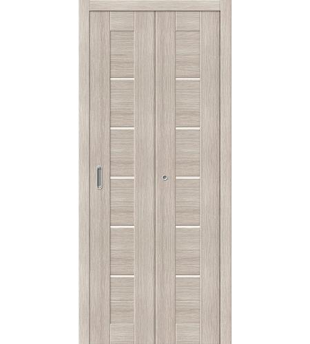 Дверь складная межкомнатная «Порта-22» Cappuccino Veralinga остекленная