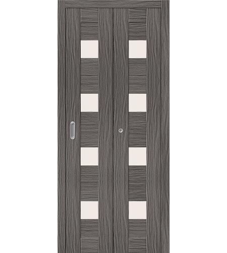 Дверь складная межкомнатная «Порта-23» Grey Veralinga остекленная