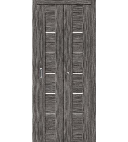 Дверь складная межкомнатная «Порта-22» Grey Veralinga остекленная