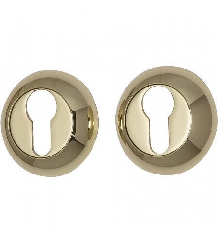 Накладка цилиндровая на круглой розетке для межкомнатной  двери «А/Z-4CL» Золото
