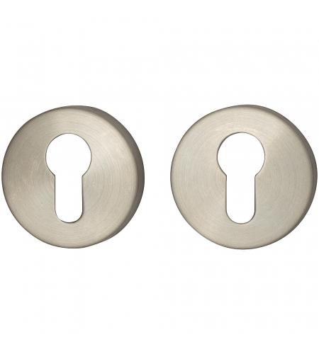 Накладка цилиндровая на круглой розетке для межкомнатной  двери «I-1CL» INOX
