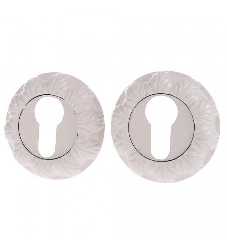 Накладка цилиндровая на круглой розетке для межкомнатной  двери «A/Z-3CL» БелЭмаль