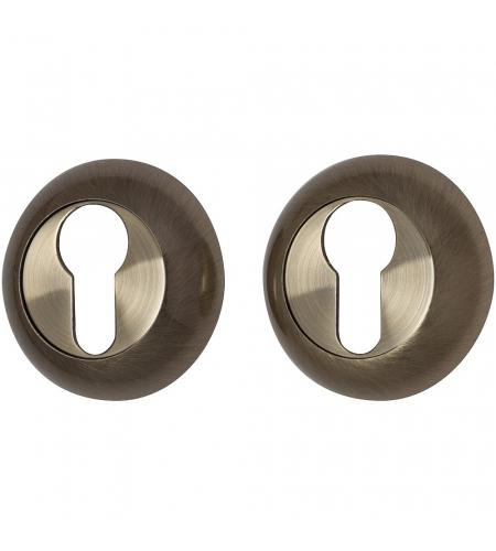 Накладка цилиндровая на круглой розетке для межкомнатной  двери «А/Z-4CL» Бронза