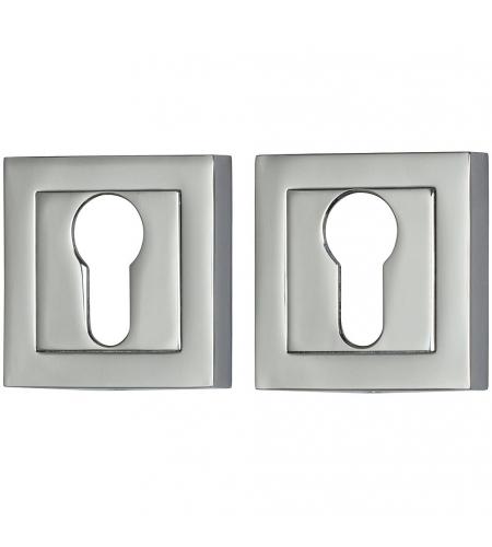 Накладка цилиндровая на квадратной розетке для межкомнатной  двери «A/Z-2CL» Хром