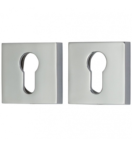 Накладка цилиндровая на квадратной розетке для межкомнатной  двери «A/Z-9CL» Хром
