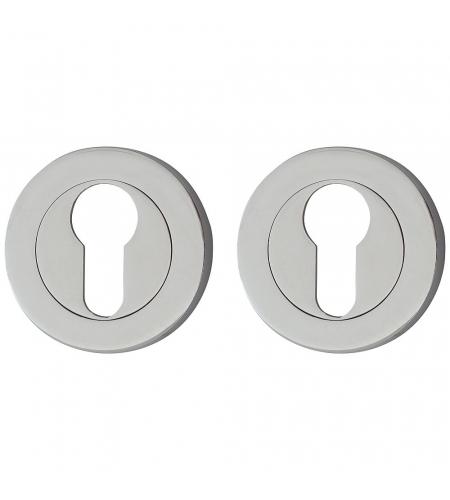 Накладка цилиндровая на круглой розетке для межкомнатной  двери «А/Z-6CL» Хром