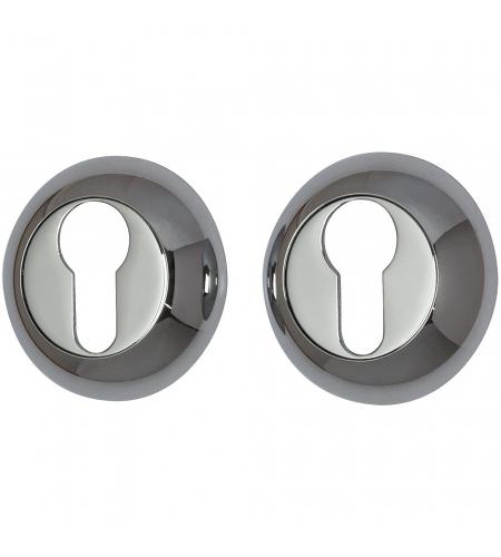 Накладка цилиндровая на круглой розетке для межкомнатной  двери «А/Z-4CL» Хром