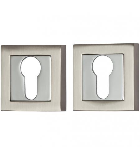 Накладка цилиндровая на квадратной розетке для межкомнатной  двери «A/Z-2CL» МатНикель/Хром