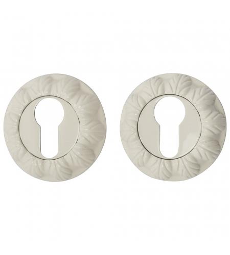 Накладка цилиндровая на круглой розетке для межкомнатной  двери «A/Z-3CL» Слоновая кость
